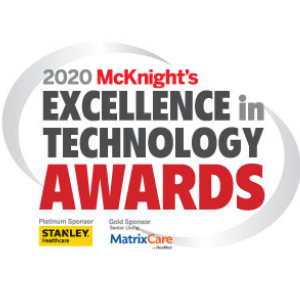 Hearthstone wins the McKnight's Excellence in Technology Gold Award