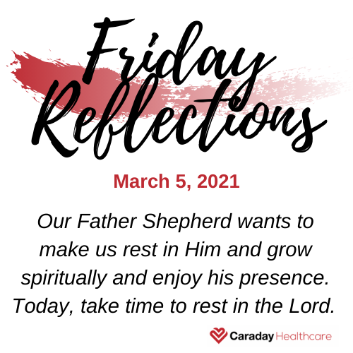 Friday Reflections – March 5, 2021