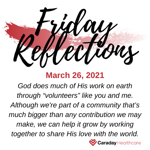 Friday Reflections – March 26, 2021